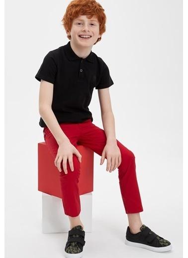 DeFacto Erkek Çocuk Polo Yaka Kısa Kollu Tişört Siyah